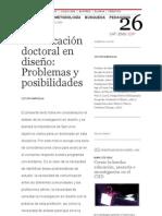 ELISAVA TdD _ 26 _ La educación doctoral en diseño_ Problemas y posibilidades
