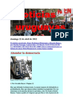 Noticias Uruguayas Domingo 22 de Abril de 2012