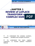 Chapter 1.1 Review of Laplace Transform and Complex Number