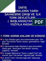 3.Ünite 1-Türkler'in Tarih Sahnesine Çıkışları