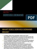 Derieved Demand for Ships