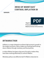 Effectiveness of Monetary Policy to Control Inflation In