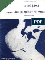 ANDRE JOLIVET-Tombeau de Robert de Visée Andre Jolivet-SheetMusicTradeCom