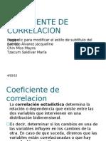 Coeficiente de Correlacion Expo