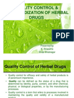 q.c & Standardization of Herbal Drugs