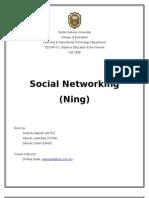 Social Networking (Ning)