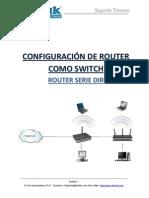 Configuracion de Router Como Switch Router Serie DIR