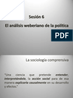 Sesión 6 El análisis weberiano de la política