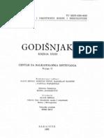 Godišnjak Centra za balkanološka ispitivanja Akademije nauka i umjetnosti BiH [knjiga 23, 1985.]
