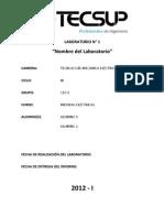 Modelo Carátula para Laboratorio