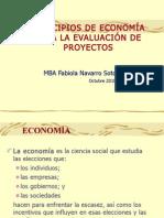 PRINCIPIOS DE ECONOMÍA PARA EVALUACIÓN DE PROYECTOS1