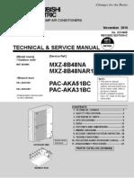 Mitsubishi MXZ-8B48NA+Pacaka51bc Service Manual