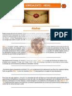 Puntos Sobresalientes de Biblia - Abdias 1 a Jonas 4