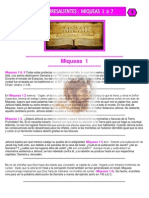 Puntos Sobresalientes de Biblia - Miqueas 1 a 7