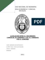 La Relacion Entre El Crecimiento Comercial en Gamarra y Los Tlc Firmados Por El Gobierno