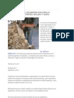 Cepillado Manual de La Madera