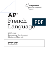AP Sf French Lang Reading Skills