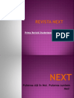 Revista Next, lucrare-prezentare Power Point. Chișinău, 2012