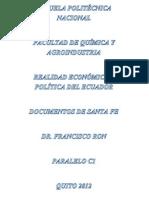 Documentos de Santa Fe y Dictaduras Militares