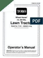 toro wheelhorse demystification electical wiring diagrams for all rh scribd com Turf Master Riding Mower Wiring Diagram Toro Lawn Mower Wiring Diagram