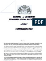 Maths Curriculum Guide Level 7