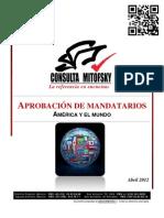 RANKING APROBACIÓN DE MANDATARIOS MITOFSKY 2012