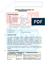 Programacion Anual 2do Javier Prado 2012