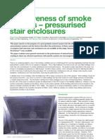 Effectiveness of Smoke Barriers - Pressurised Stair Enclosur