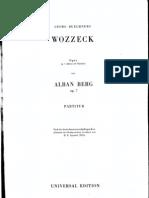 Alban Berg Opera Wozzeck Orchestral Full Score