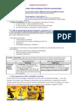 Distinction Entre Cible Marketing Et Cible de Communication