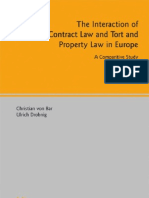 The Interaction of Contract Law and Tort and Property Law in Europe a Comparative Study