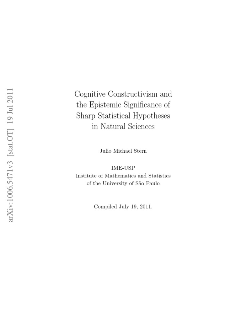 Cognitive constructivism and the epistemic signi cance of sharp cognitive constructivism and the epistemic signi cance of sharp statistical hypotheses in natural sciences statistics science fandeluxe Images