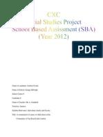 Jj Social Studies SBA