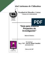 Guia Para Elaborar Proyectos de Investigacion