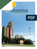 Foro Latinoamericano de Desarrollo Sostenible. Agenda.