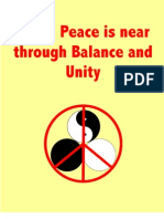 World Peace is Near Through Balance and Unity
