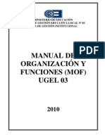 MOF-2010 UGEL