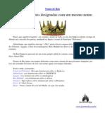Javé Revela - Nomes de Reis