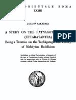 A Study of Ratnagotravibhaga,Takasaki,1966
