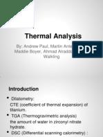 Thermal Analysis 462 Pres