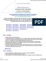 12th Night Scene Summaries