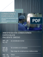 Anestesia en Condiciones Especiales
