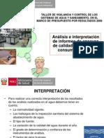 Analisis e Interpretación Agua de Consumo Humano-2012