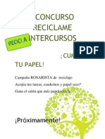 i Concurso Reciclame Intercursos