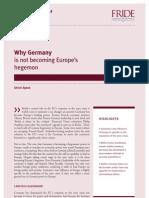 Germany Not Becoming Europe Hegemon