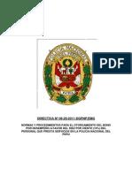 Directiva Nro 06-29-2011 DGPNP EMG