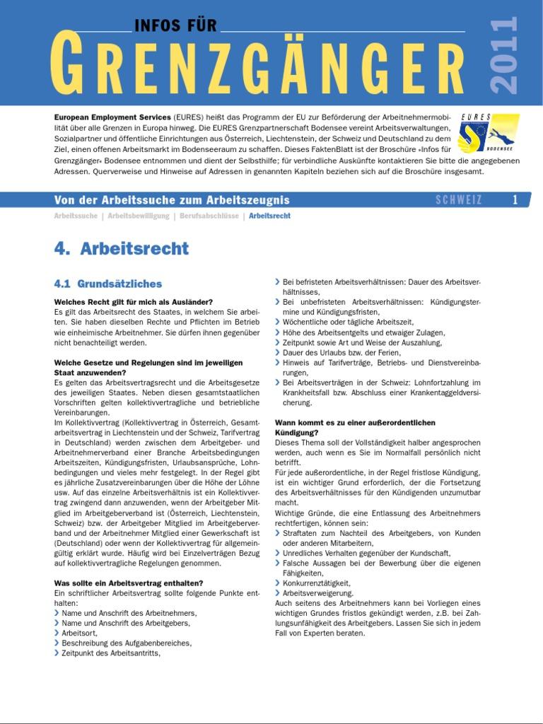 Schweiz Arbeitsrecht