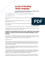 Secrets of Reading Body Language
