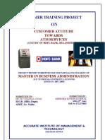 HDFC Bank Ltd. - Customer Attitude Towards ATM Services5655555555555555555555555555555555555555555555555555555555