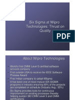 SixSigma - Wipro Case Study Developers Faculty of Jaipuria